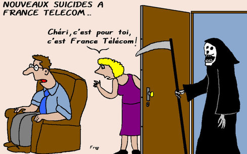 Nouveaux suicides à France Télécom...