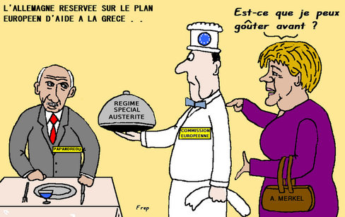 L'Allemagne réservée sur le plan européen d'aide à la Grèce . .