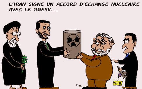 L'Iran  signe  un  accord  d'échange  nucléaire  avec  le  Brésil...