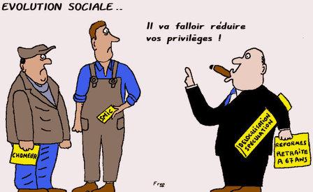 Évolution sociale...