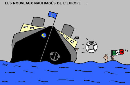 Les  nouveaux  naufragés  de  l'Europe...