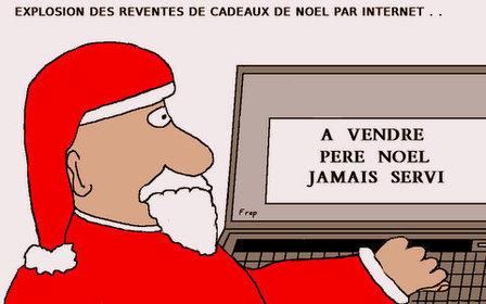 Explosion des reventes  de cadeaux de Noël sur Internet...