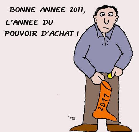 Bonne année  2011 : L'année  du  pouvoir  d'achat ?