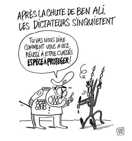 Les dictateurs paniquent...