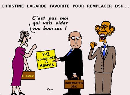 Christine  Lagarde  favorite  pour  remplacer  DSK...