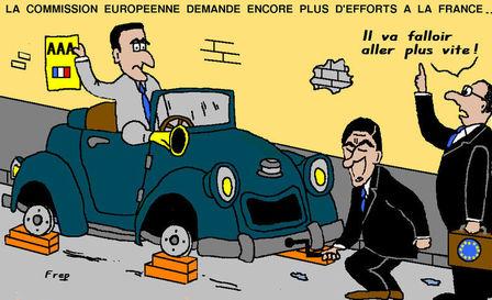 La France fait du sur place