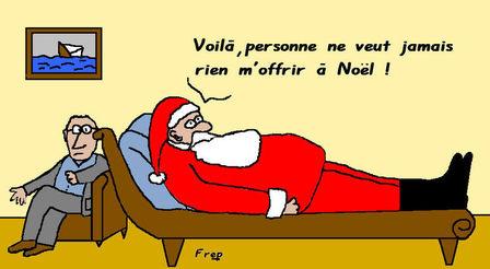 Le Père Noël aussi à des sentiments
