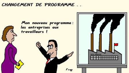 Le gouvernement revoit son programme...