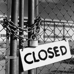 266 fermetures d'usine en 2012