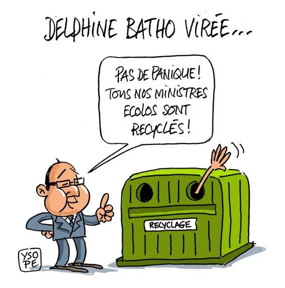 Ministre écolo et recyclable