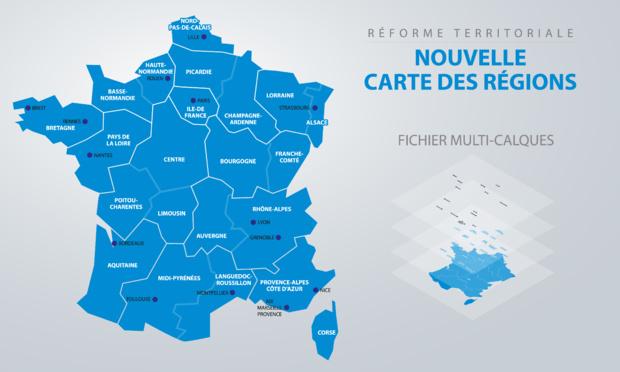 Crédit : réforme des régions par Shutterstock