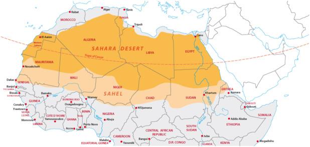 Crédit : Afrique du Nord par Shuttersstock