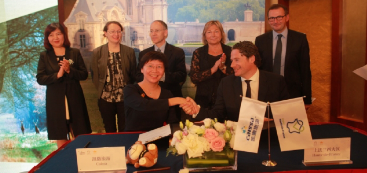 Tourisme : Signature d'un partenariat stratégique entre la région Hauts-de-France et le Tour-Operator chinois Caissa
