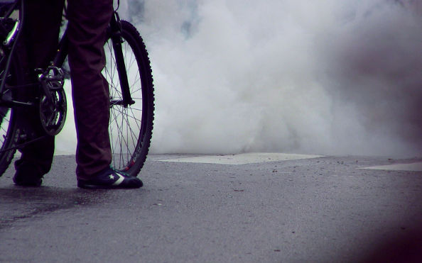 Les cyclistes et la pollution de l'air