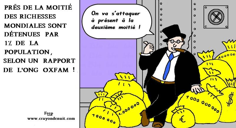 1 % de la population contrôle 50 % des richesses