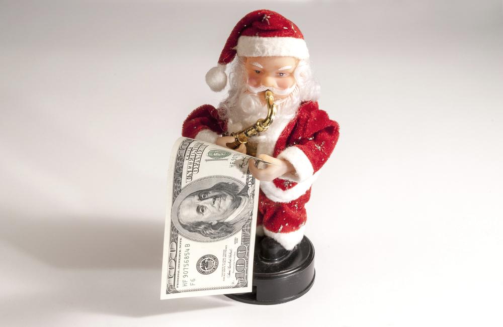 Crédit : dollar santa par Shutterstock