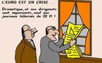 Les bourses  sont en baisse , l'euro est  en crise...
